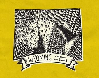 Wyoming State Bird Print- Western Meadowlark, 8x10 inches.
