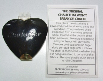 Heart Chakoner White Chalk Line Fabric Marker Tailor Seamstress Quilting Japanese