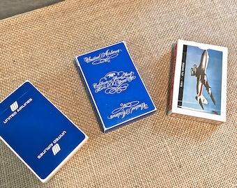 Set of 3 Airline Playing Cards