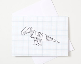 Greeting Card - Origami Animal / Dinosaur
