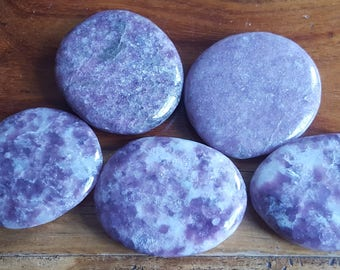 Lepidolite Palm Stone  - Aids Stress & Brings Emotional Healing