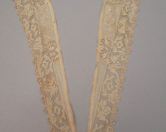 Antique Lace collar Victorian hand embroidered shawl collar