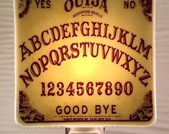 Ouija Board Night Light Fused Glass