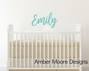 Personalized Childrens Wall Decal - Girls Name Wall Decal - Nursery Wall Decal - Personalized Name Decal - Vinyl Wall Decal - Girls Name