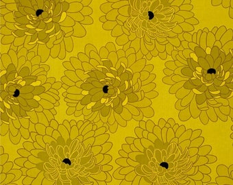American patchwork yellow Fresh Bloom Benartex fabric