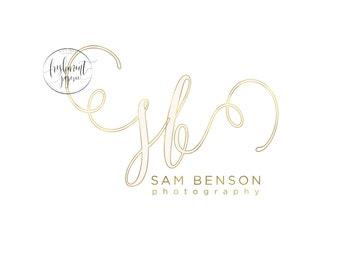 Custom logo -  photography logo  - calligraphy logo - business logo - business card - freshmint paperie