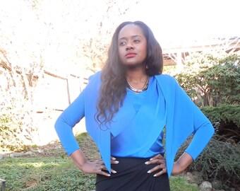 Vintage Cobalt Blue Couture Blouse- SALE