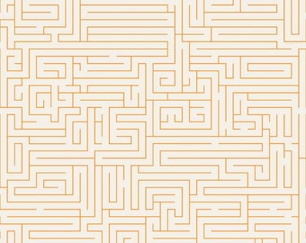 Fun & Games Maze Orange by Lori Whitlock for Riley Blake, 1/2 yard
