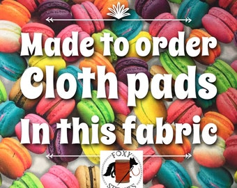 Made to order, reusable cloth pads, washable pads, reusable pads, cloth pads, sanitary pads, cloth pad set, mommy pads