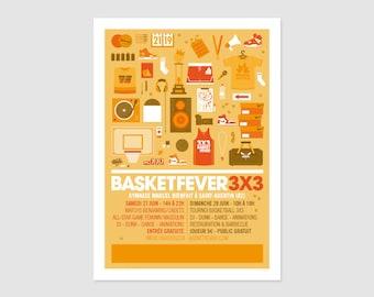 Print - Poster Basketfever 3x3