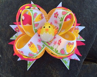Cute Lil Easter Chic Boutique Resin Hairbow