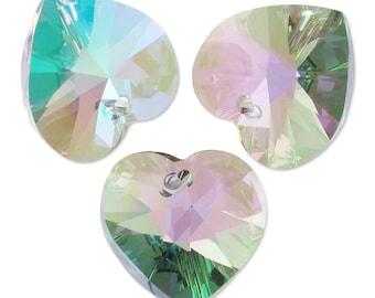 Set of 6 hearts SwarovskiI Crystal Paradise Shine