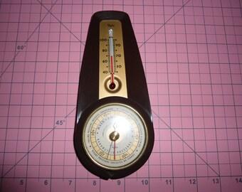 Vintage, Bakelite, Indoor Thermometer, Barometer, Gauge, Mid Century, Taylor Barometer, Thermometer, Mid Century Modern, Weather station