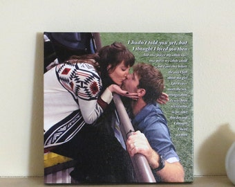 First Anniversary Gift for Husband, 1st Anniversary Gift, One Year Anniversary, Custom Canvas Gift, Photo CANVAS