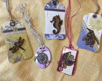 Gift tag mix - set of 5