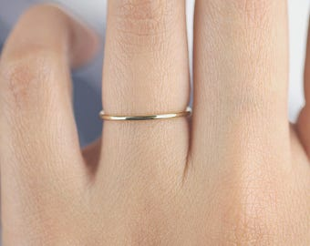 wedding gold plain band in set rings