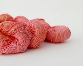 Hand-dyed linen yarn, sport weight, Fruit Salad.