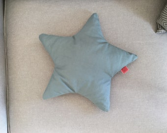 Deco Star Pillow in blue
