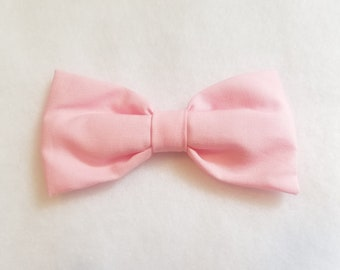 Light Pink Pastel Cotton Bow tie for kids toddler or baby NB - 7 Yrs