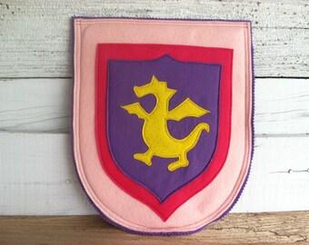 Pink & Purple Dragon Knight Shield - Halloween Costume - Kid Costume