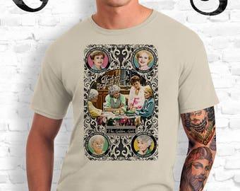 Golden Girls Sand T-Shirt. Blanche, Rose, Dorothy and Sophia. TV. Campy. Art. Print. Gay. Drag.
