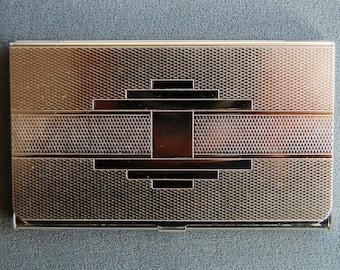 Business card case etsy jaeger ultra slim business card case metal business card holder brand new made colourmoves Gallery