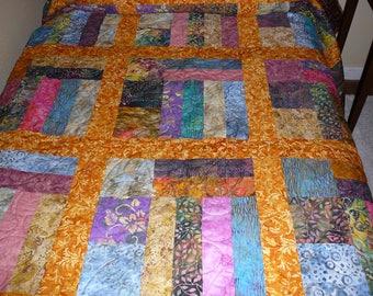 Ethnic batik quilt