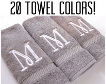 20 Colors, Towels, hand towel, bathroom, personalized gift, embroidered  towels,