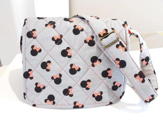 Quilted Disney messenger bag with adjustable strap