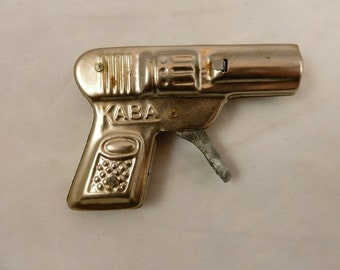 Vintage Toy Pistol, 1950's Metal Toy Gun,   Retro Novelty Gag Gift, Mid-Century Toy