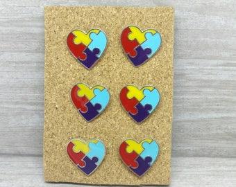 Autisum awarness cork board pins, Autisum pushpins thumbtacks, Puzzle piece pins, bulletin board pins, decoritive pins tacks