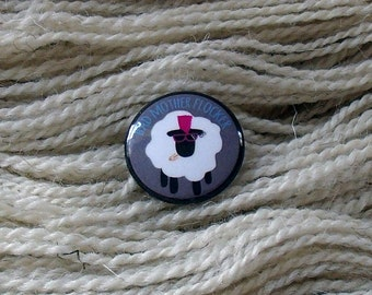 "Bad Mother Flocker 1"" Button for Knitting Knitters Who Knit"