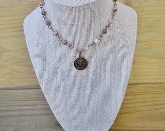 Pink Toned Indian Charm Necklace