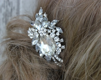 Rhinestone and Crystal Bridal Comb/ Wedding/ Comb