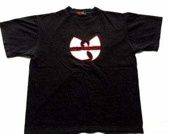 WU WEAR jersey, Wu Tang t-shirt, vintage hip hop shirt, 1996 sewn authentic Wu Tang Clan jersey 90s gangsta rap, 1990s, vintage size L Large