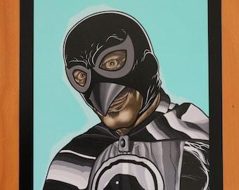 Crow Bird Man 7x10 Print