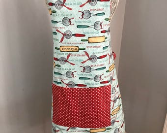 Apron, Full Long Apron with Pocket for Women
