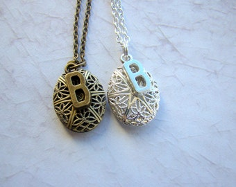 Initial Demi Essential Oil Diffuser Necklace, Customized Initial Scent Diffuser