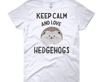 Keep calm and love hedgehogs shirt