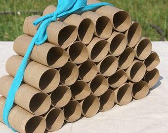 30 Empty Cardboard Toilet Paper Tubes- Classroom Craft Supplies