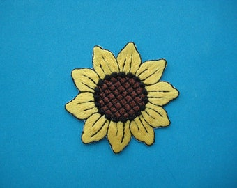 Iron-On embroidered Patch SUNFLOWER 2 inch