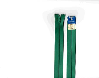 """Closure zipper""""plastic"""" non detachable green medium DMC 2764 30cm"""
