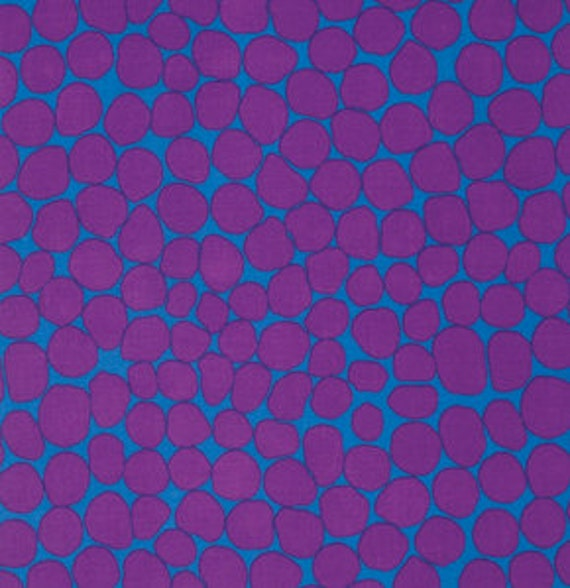 JUMBLE PURPLE BM053by Brandon Mably for Kaffe Fassett Collective Sold in 1/2 yd increments