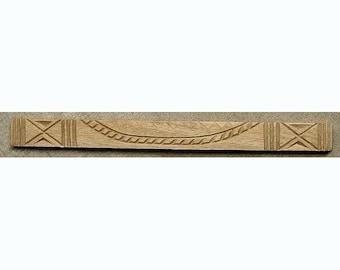 Oshiwa Carved Wood Printing Stamp, Tribal Design, 10.5''x 1'', Item 20-1-105