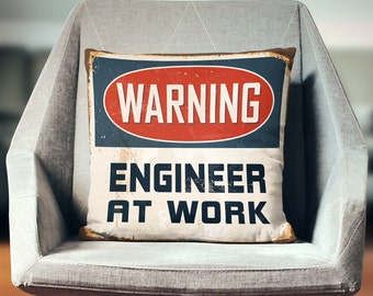 Engineer Gifts | Engineer Pillow Cover | Engineering Gift | Throw Pillow | Pillow Case | Pillowcase | Home Decor | Art | Print