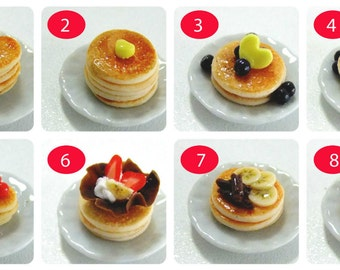 8 pieces of Dollhouse Miniature Pancake +A cup of Honey Free ! and Free shipping