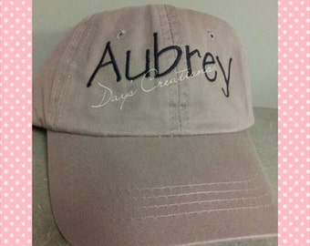 Personalized Youth Embroidered Baseball Hat - Custom Name Embroidered Ball Cap - Kids Easter Gift - Summer Vacation Ball Cap - Under 20