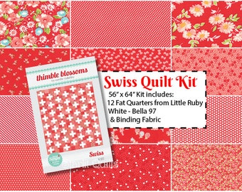 SALE -- Swiss Quilt Kit By Thimble Blossoms, for Moda Fabrics designed by Bonnie and Camille