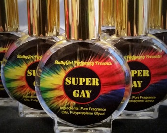 Super Gay Mens Fragrance, Gay Gift, Gay Friend, Funny Perfume, Unique Gift Idea, Mens Cologne, Humor, Humorous Gift, Gay Cologne
