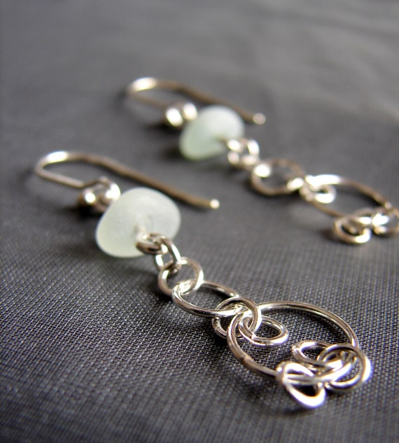 Mermaiden sea glass earrings